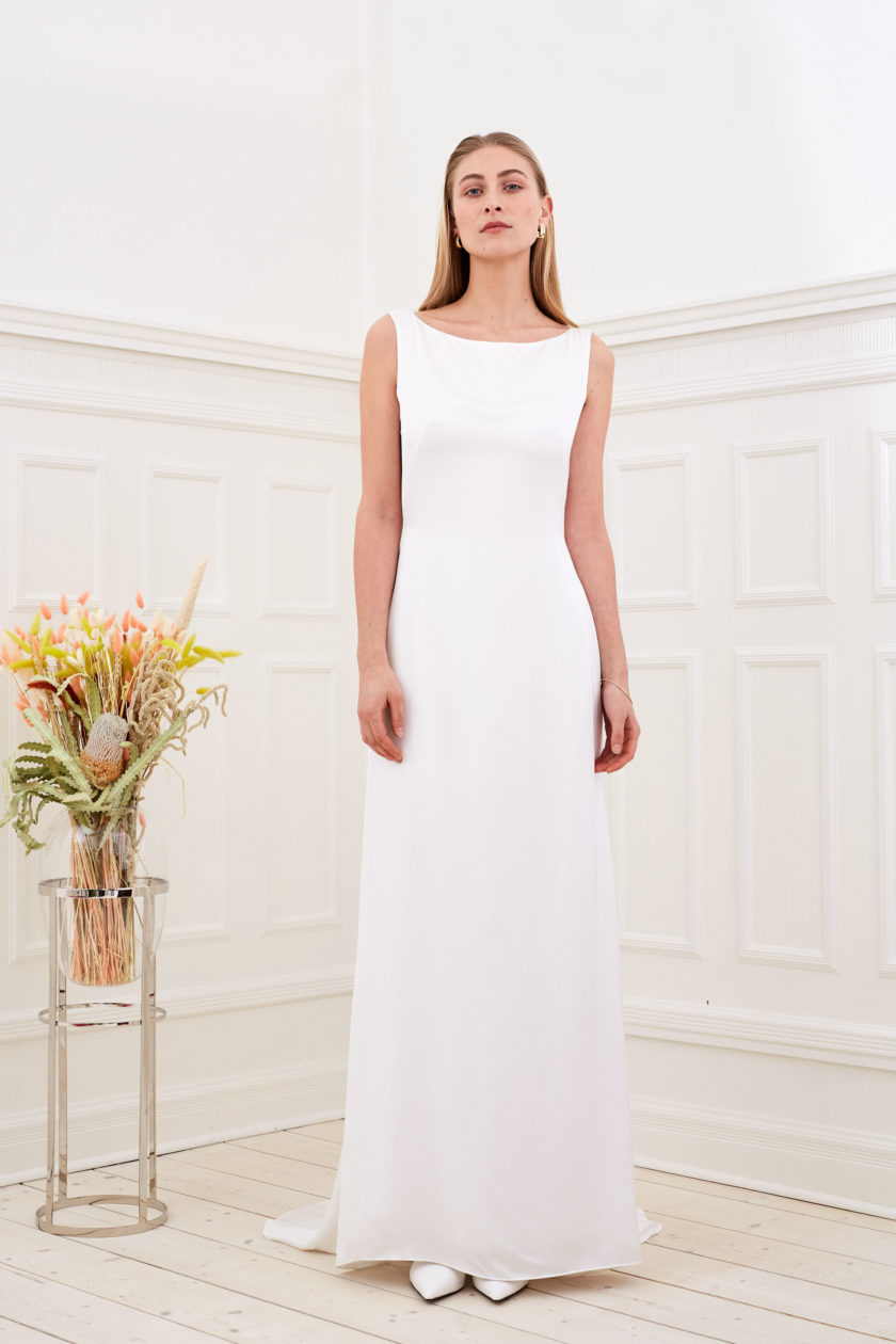 Amber - Minimalist wedding dress front