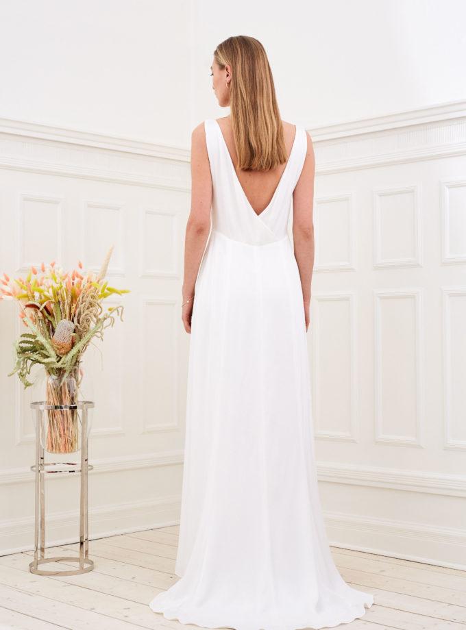 Amber - Minimalist wedding dress back
