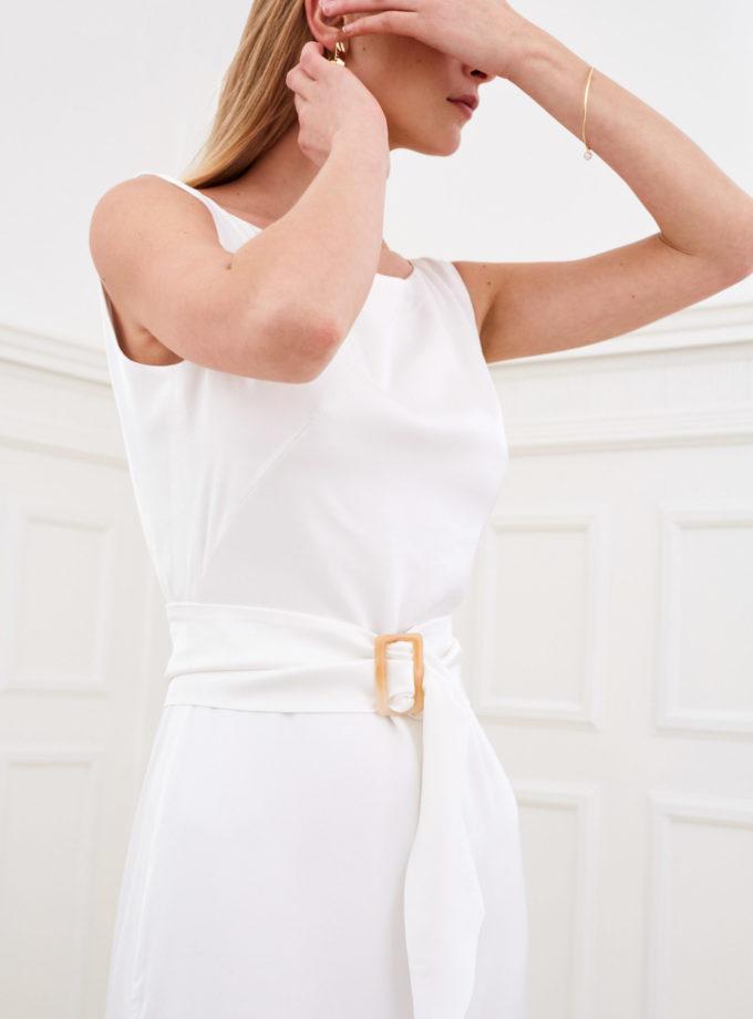 Amber - Modern wedding dress front belt