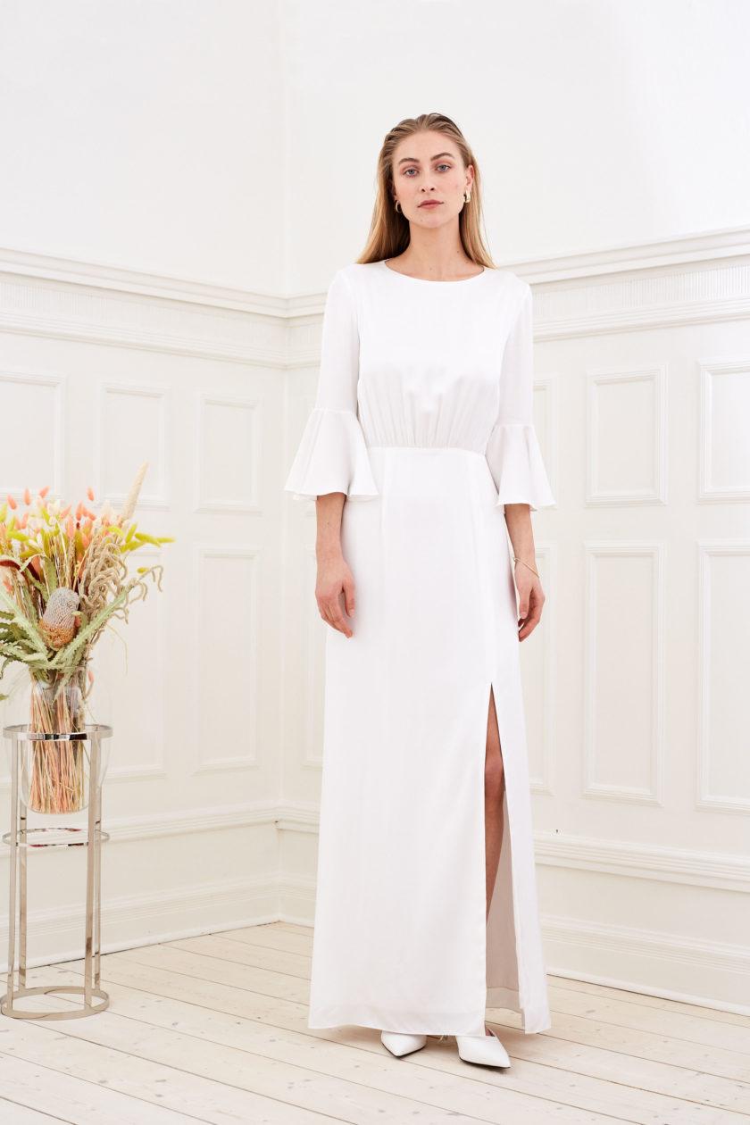 Marisa - Minimalist wedding dress slit