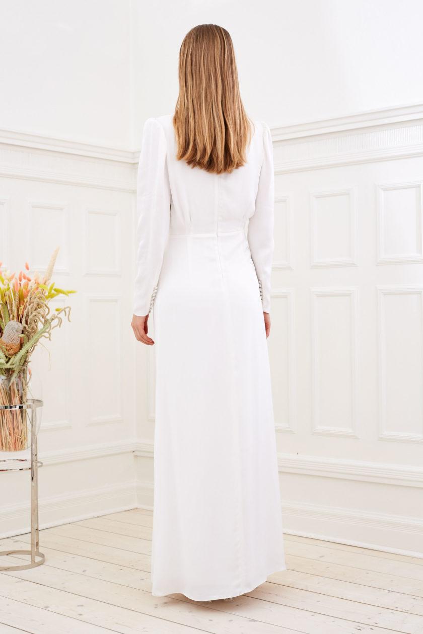 Farrah - Modern wedding dress long sleeve back