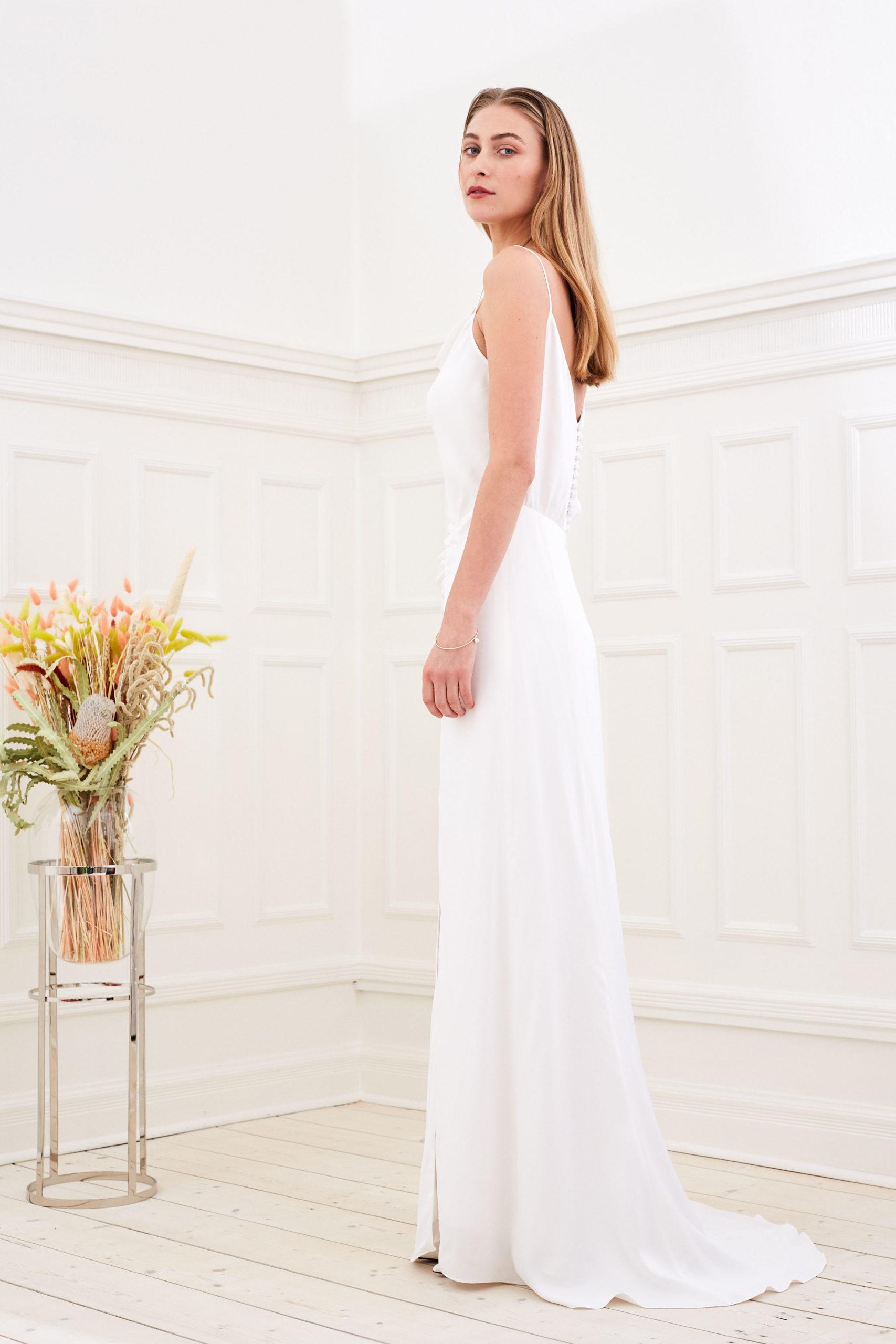 Daphne - Modern wedding dress side