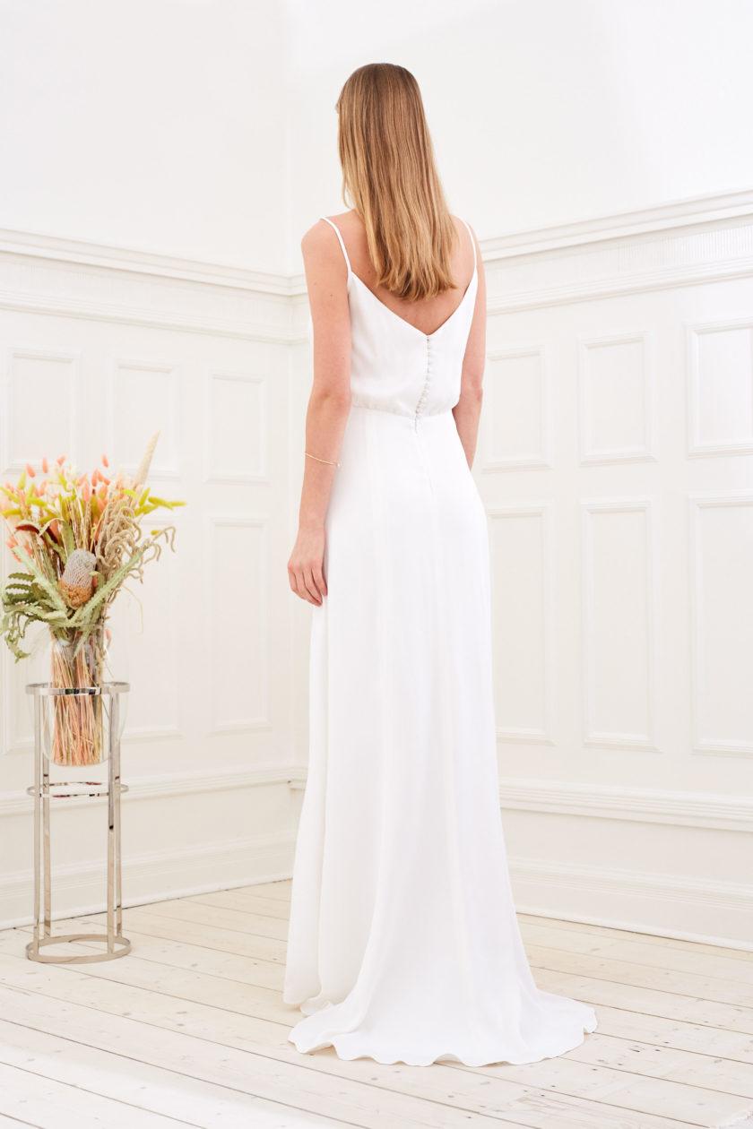 Daphne - Modern wedding dress back