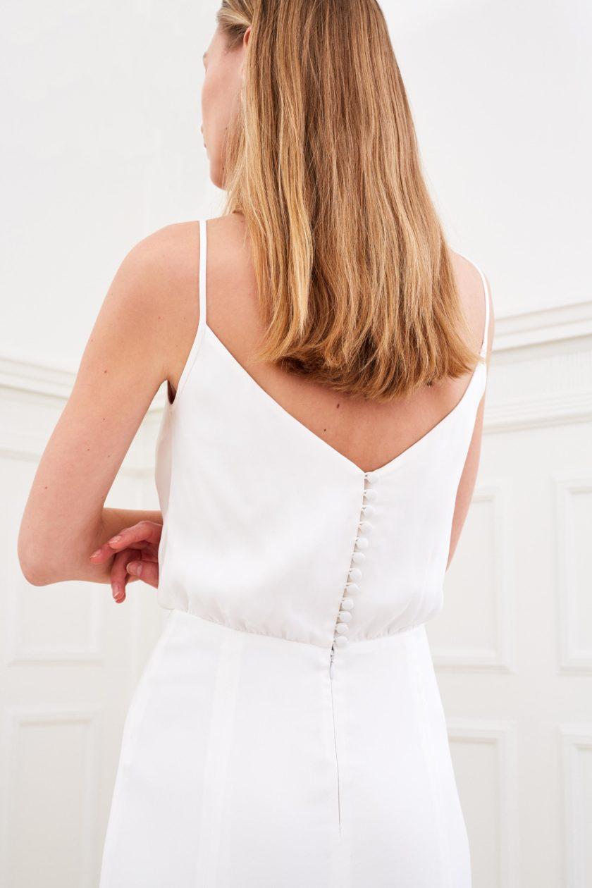 Daphne - Minimalist wedding dress back detail