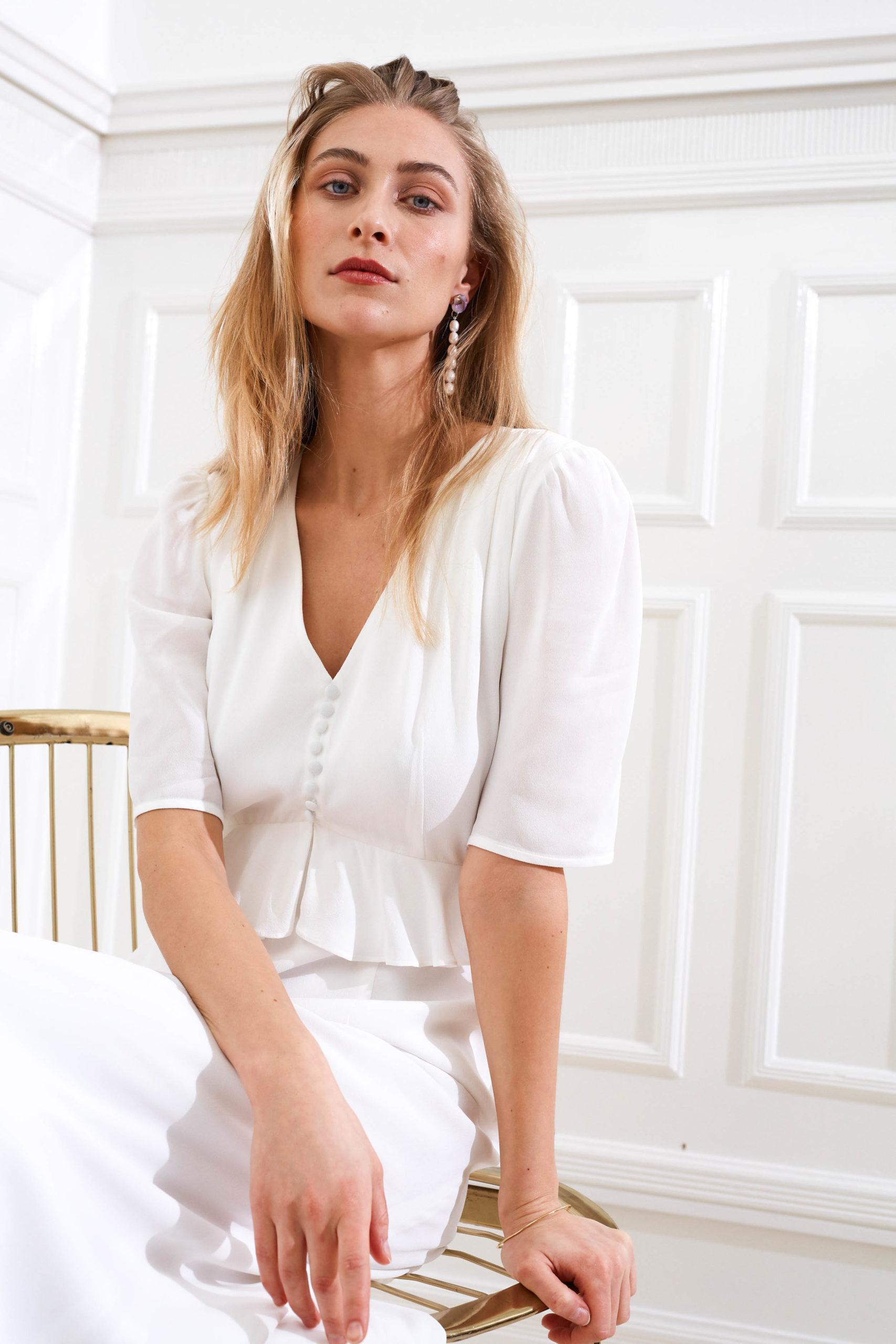 Artemis - Bianca modern wedding dress frill