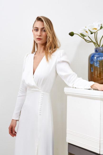 Farrah - Modern wedding long sleeve